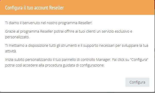 Attivazione profilo Reseller
